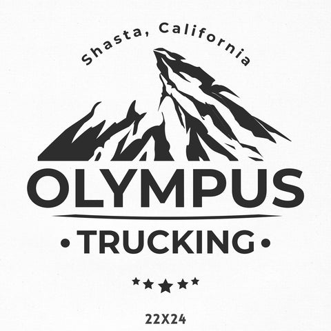 Company Name Truck Decal with Mountain