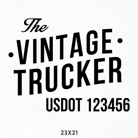 Company Name Decal with USDOT Number