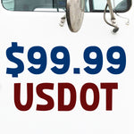 $99.99 USDOT Number Decal Sticker (Set of 2)