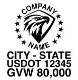 Company Name Decal Patriotic