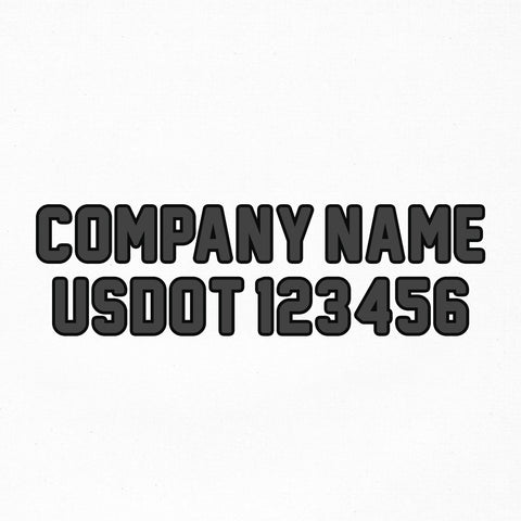company name usdot number decal