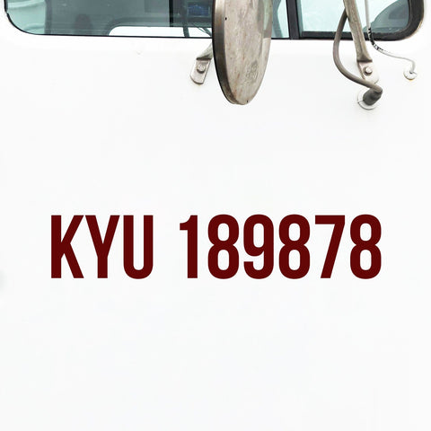KYU Number Decal Sticker (Kentucky)
