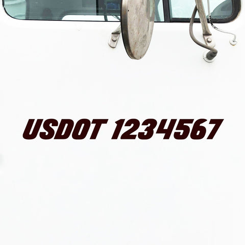 USDOT Number Decal Sticker for Semi Truck Lettering