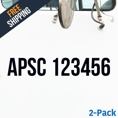 apsc number decal