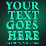 your text goes here glow in the dark decal sticker
