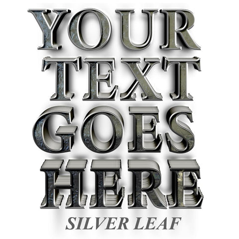 your text goes here decal sticker silver leaf