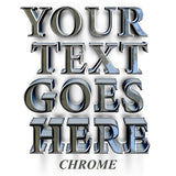 your text goes here chrome truck decal sticker