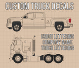 Company Name 2 Line with 4 Regulation Numbers Truck Decal