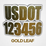 gold leaf usdot decal