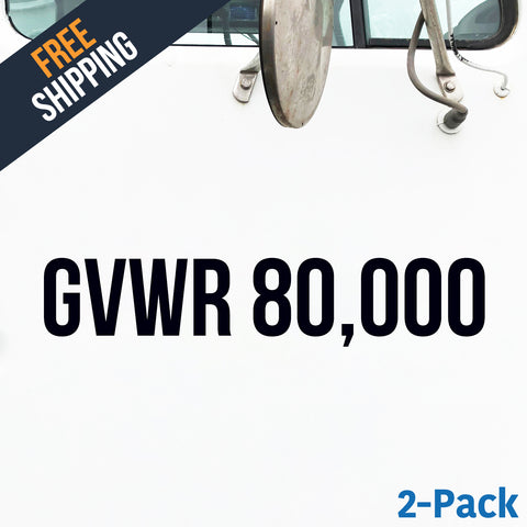 GVWR number decal