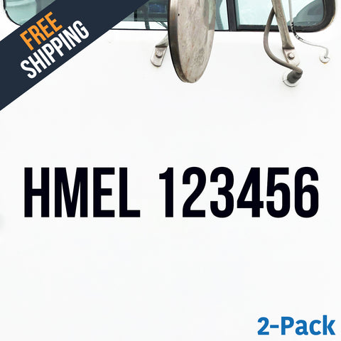 HMEL number decal