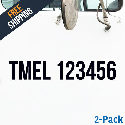 TMEL number decal