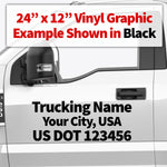 trucking name with usdot decal sticker