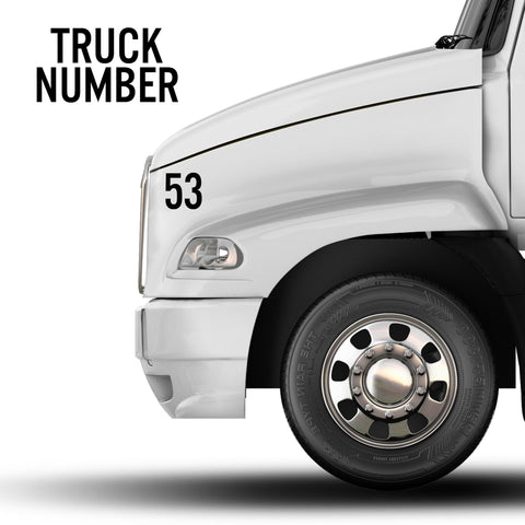 Truck Number Decal Sticker