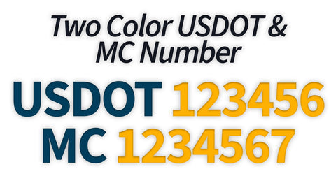 usdot mc 2 line decal