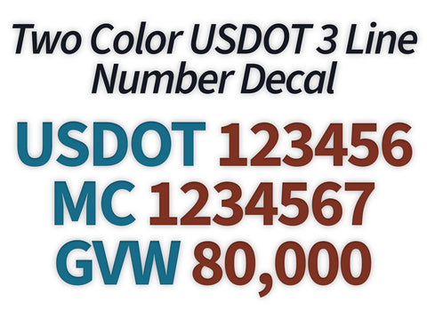 usdot mc gvw decal sticker
