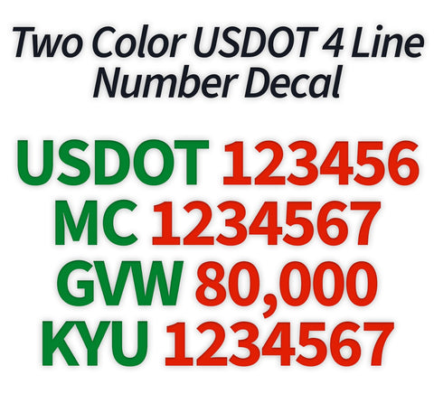 usdot mc gvw kyu decal sticker