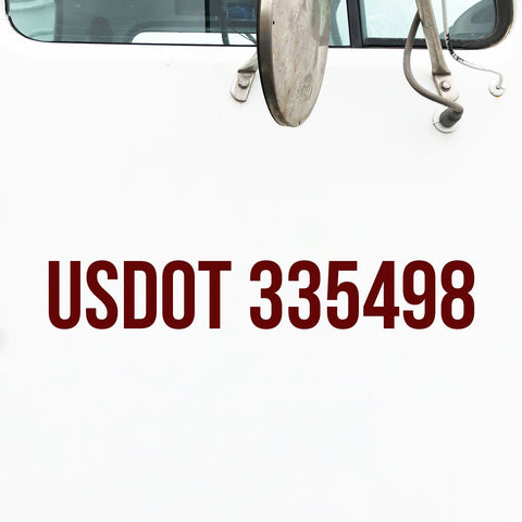USDOT Lettering for Trucks