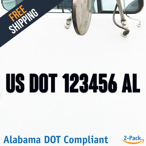 usdot decal alabama