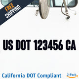 usdot decal california ca