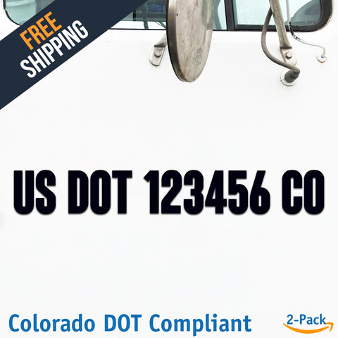usdot decal colorado co
