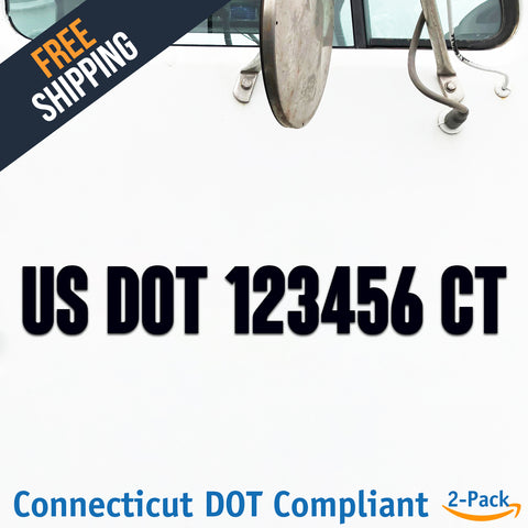 usdot decal connecticut ct