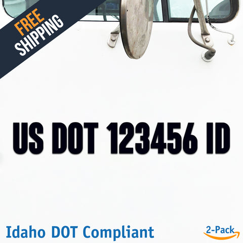 usdot decal idaho id