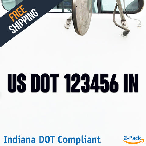 usdot decal indiana in