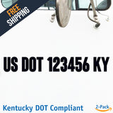 usdot decal kentucky ky
