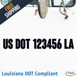 usdot decal Louisiana la