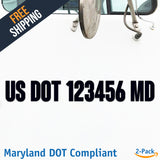 usdot decal maryland md