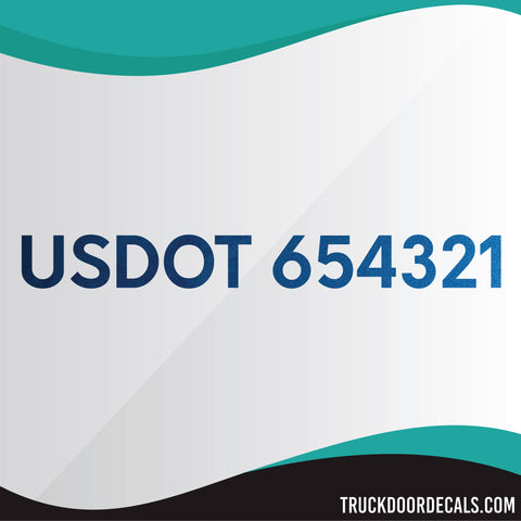 usdot number decal metallic colors
