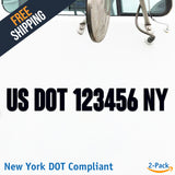 usdot decal new york ny