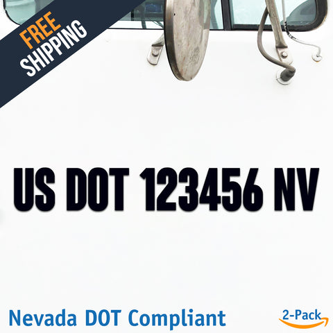 usdot decal nevada nv