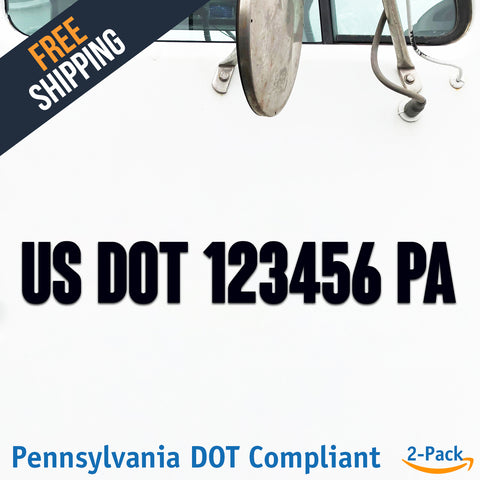 usdot decal Pennsylvania pa