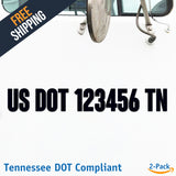 usdot decal Tennessee tn