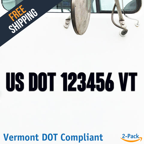 usdot decal vermont vt
