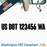 usdot decal washington wa
