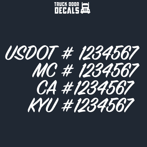 usdot mc ca kyu decal sticker