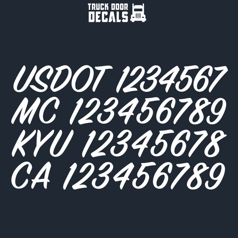 usdot mc kyu ca decal sticker