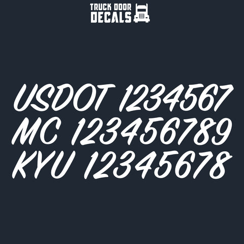 usdo tmc kyu number decal sticker