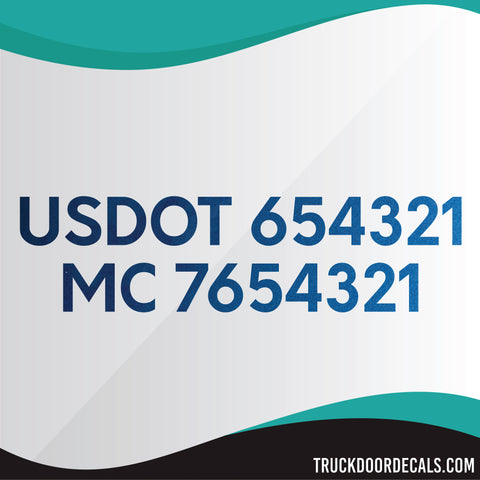 usdot mc vinyl lettering decal metallic