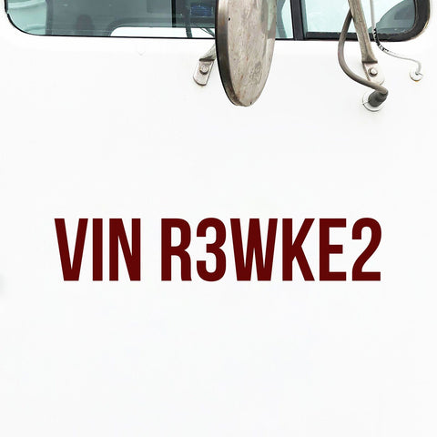 VIN Number Decal Sticker