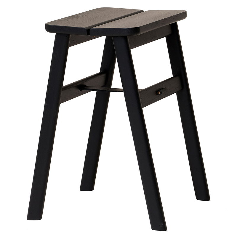 Angel Stool - Oak in Black