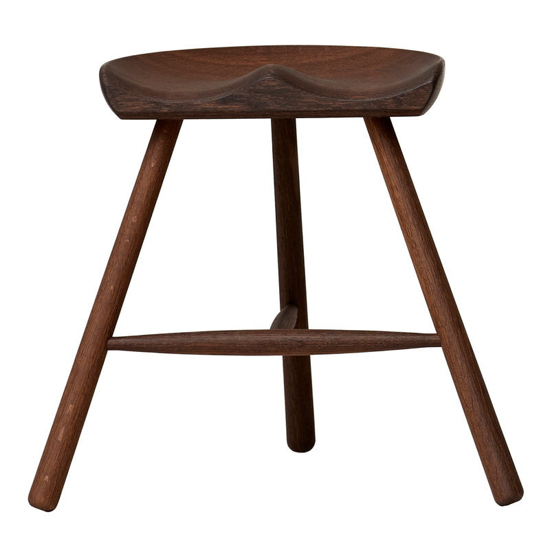 Shoemaker Chair No. 49 stool, smoked oak