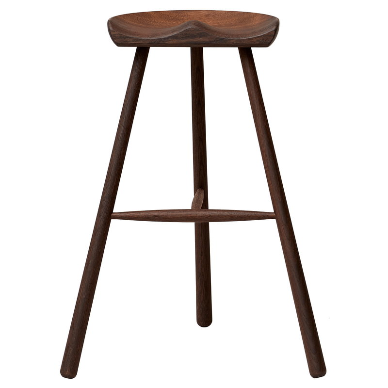 Shoemaker Chair No. 78 bar stool, smoked oak