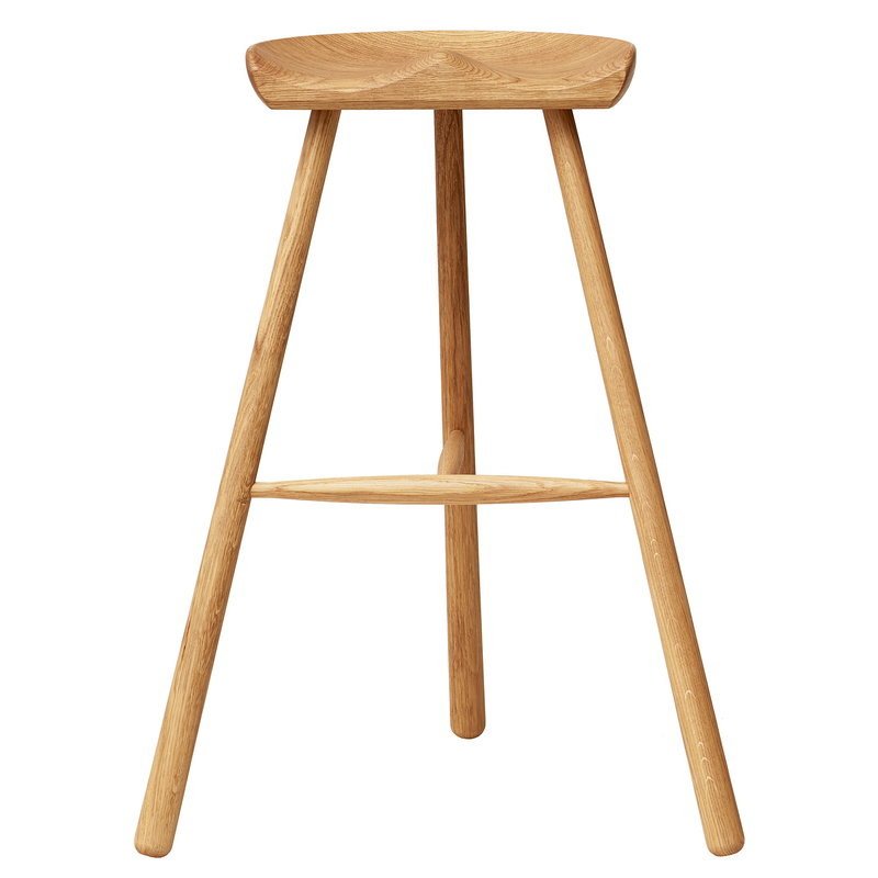 Shoemaker Chair No. 78 bar stool, oak