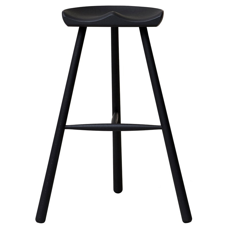 Shoemaker Chair No. 78 bar stool, black beech