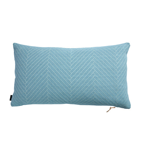 Fluffy Herringbone Aqua Cushion