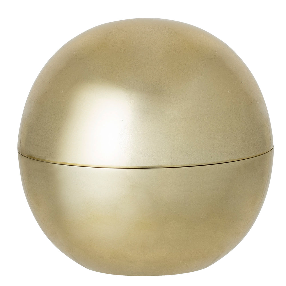 Gold bowl with lid